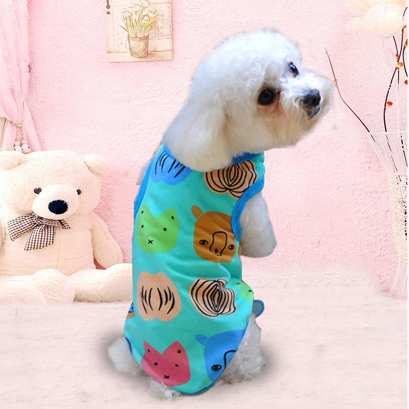 Petfun Pet Clothes Cotton Cartoon Printted Waistcoat Dog Clothes Tidy Cats Spring Clothing Vip Summer Wear Vest Shirt By Taobao Collection