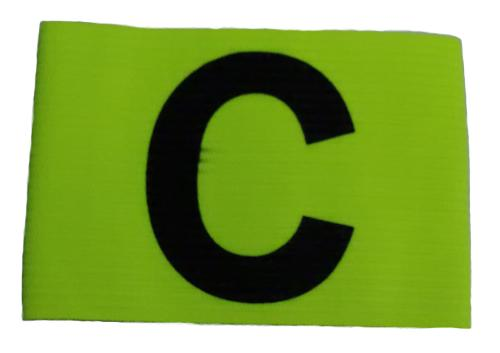 Tcs Captain Arm Elastic Band For Adult (neon Green) By Star Sports.