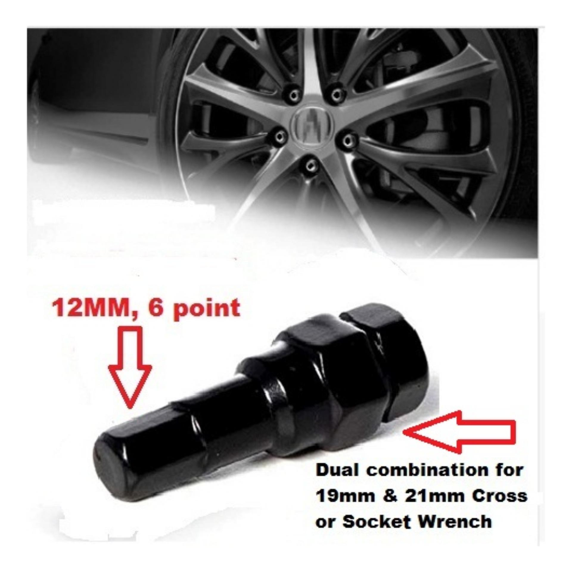 Fuji H/t Lugnuts / Wheel Nuts Inner Hex Key Black Set Of 1pc By Tireport Service Center.