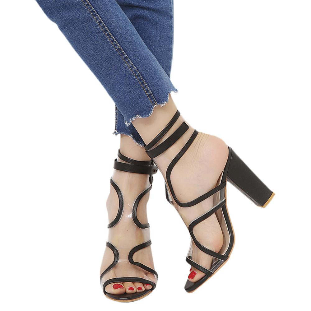 19ac18e271a Free Shipping Fashion Women Buckle Strap Tassel Ladies Ankle High Heels  Party Singel Shoes