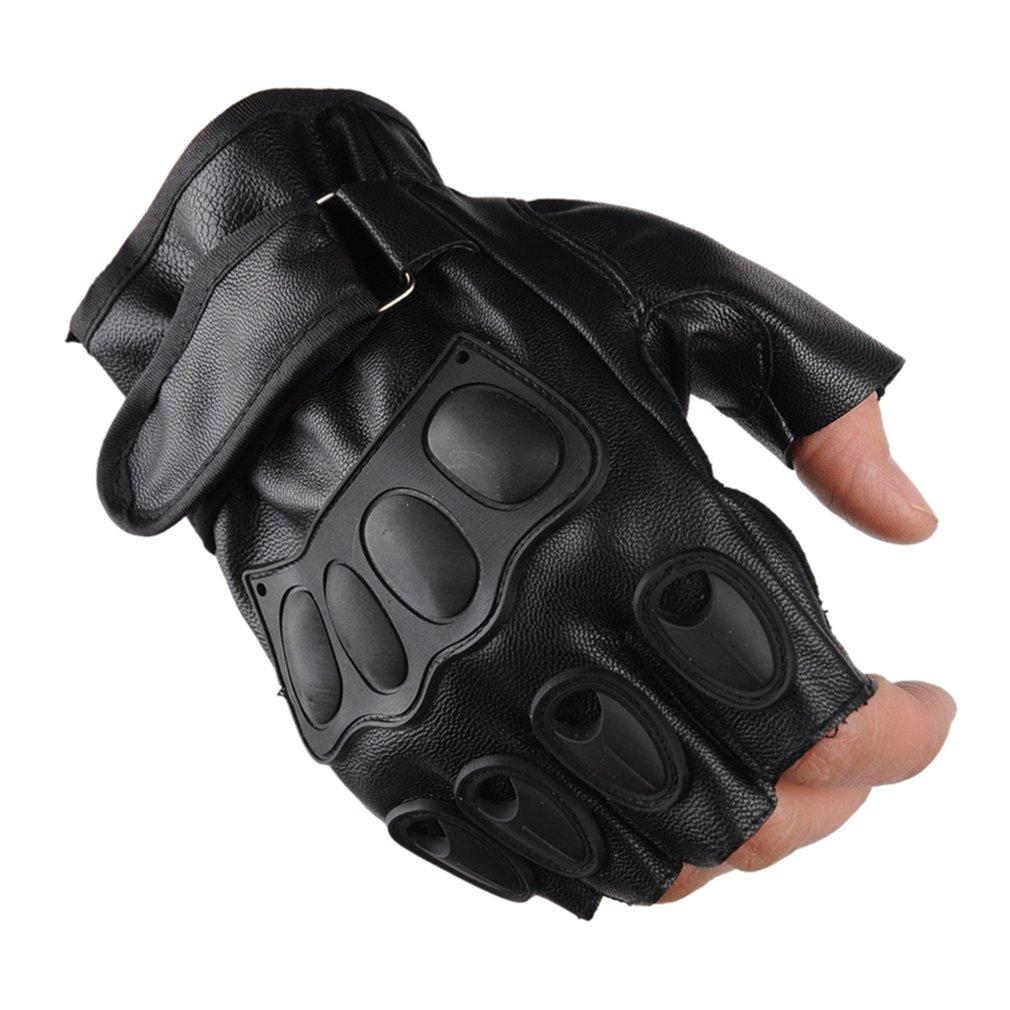 Half Finger Gloves PU Leather Men Gloves For Tactical Military Sports Cycling