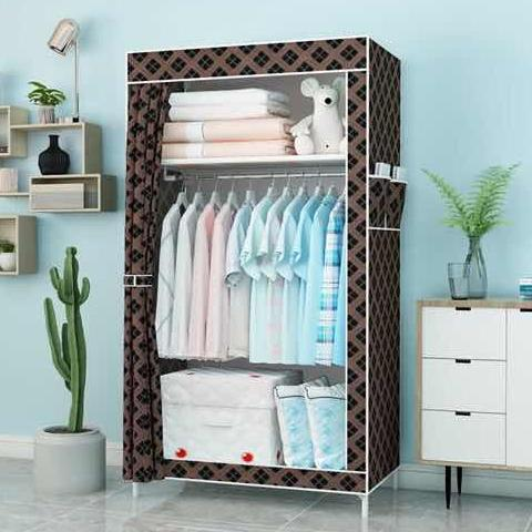 Fantastic 8870 Simple And Fashion Multipurpose Durable Cloth Wardrobe Rack Beutiful Home Inspiration Ommitmahrainfo