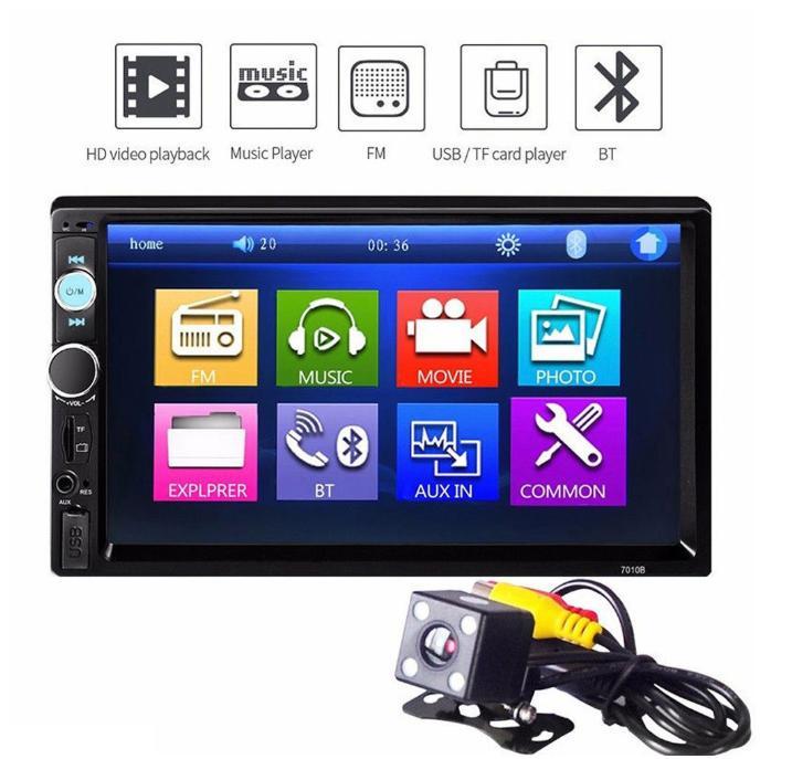 7   HD 2DIN Bluetooth Touch Car Stereo Radio MP5 MP3 Player USB  0363a823b3