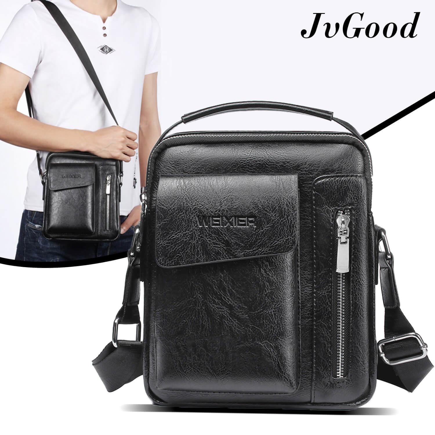 6683da48e86f JvGood Messenger Bags PU Leather Sling Shoulder Bag Male Travel Casual  Crossbody Bags Small Flap Handbags