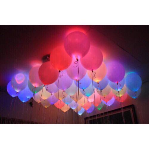 5Pcs Pack Glow In The Dark Lanterns Party Balloons LED Balloon Wedding Birthday Decoration