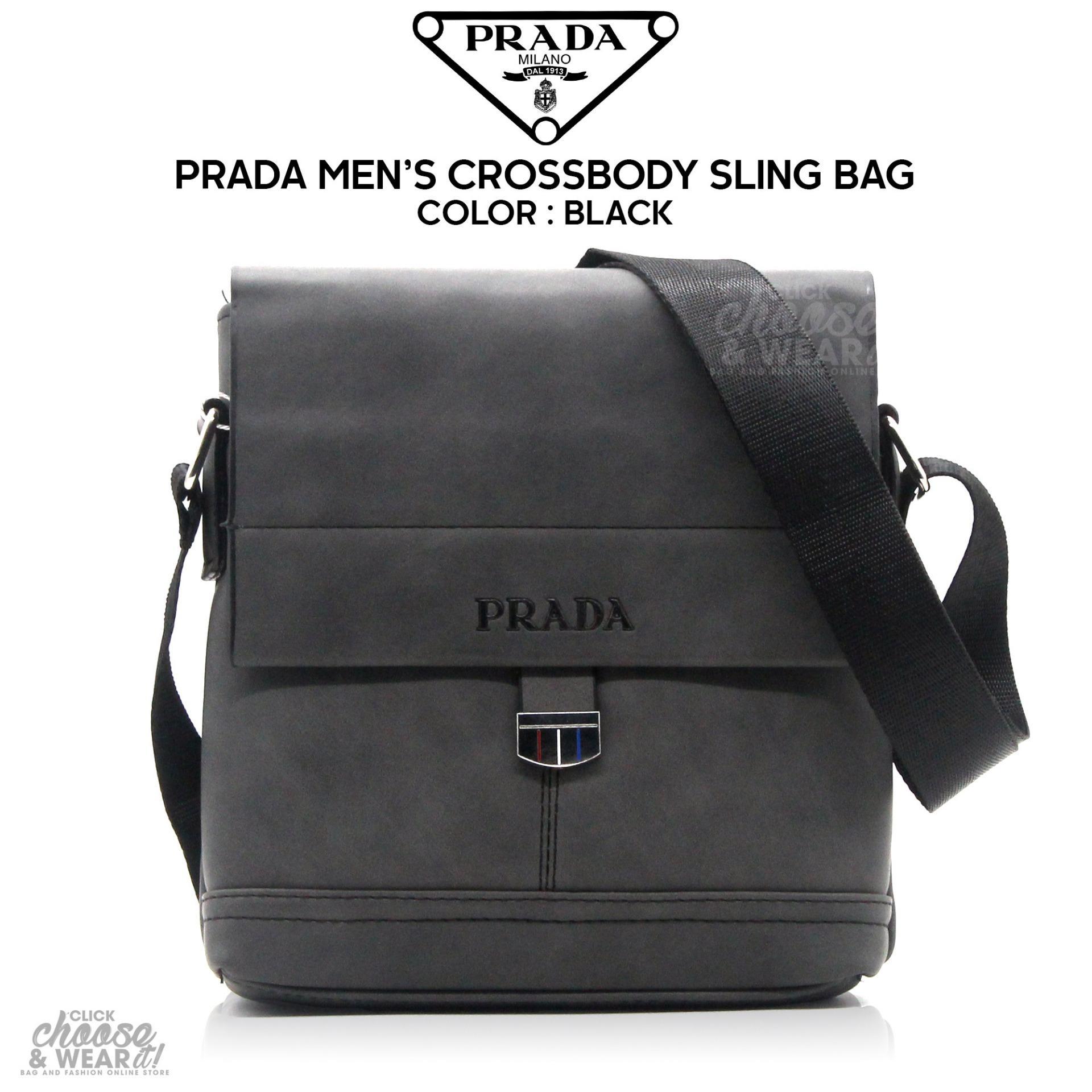 07d38d6eafbe5b ... uk prada crossbody messenger bag magnetic closure adjustable strap  black c1e9b 23082