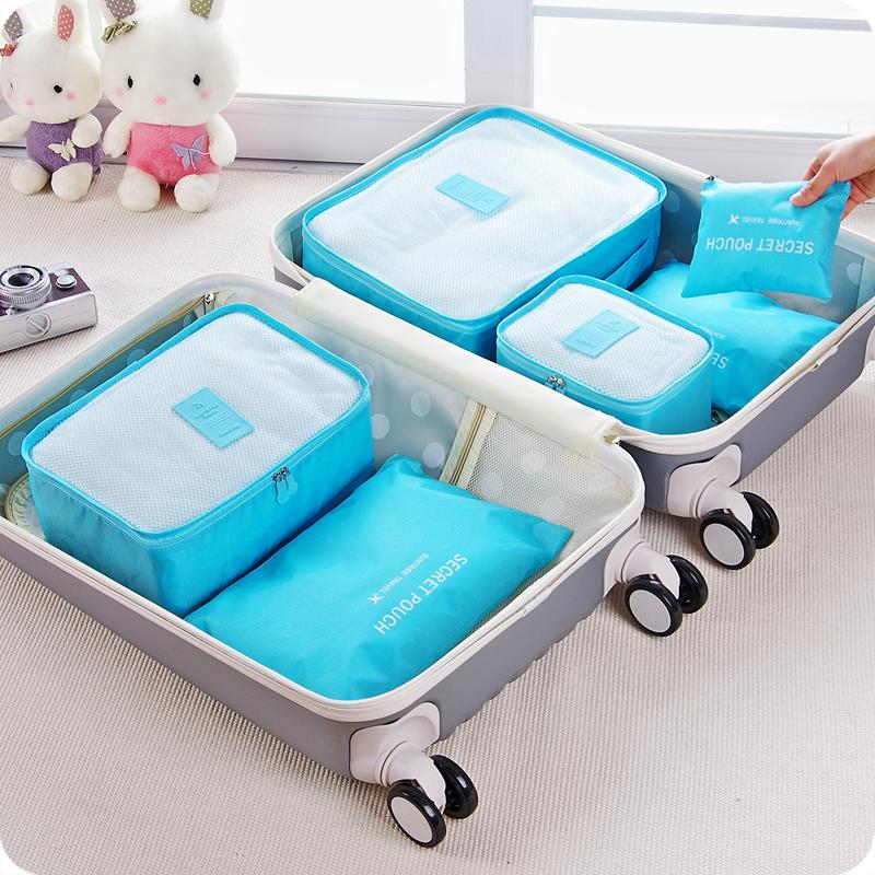 dc5130cf5a Phoebes 6 in 1 Travel cloth storage luggage Organizer Set (SMALL)