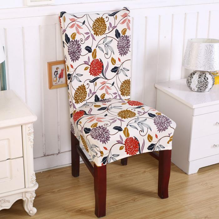 Elegant Fabric Stretch Chair Cover Home Decor