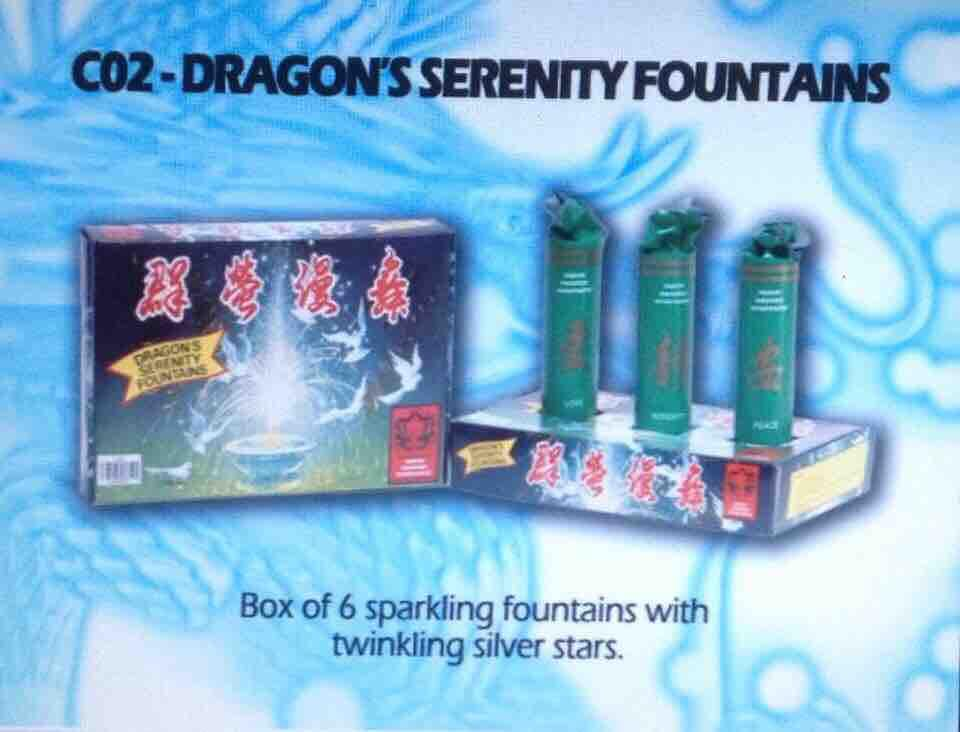 Dragon Fireworks Serenity Fountain By Etso General Merchandise.