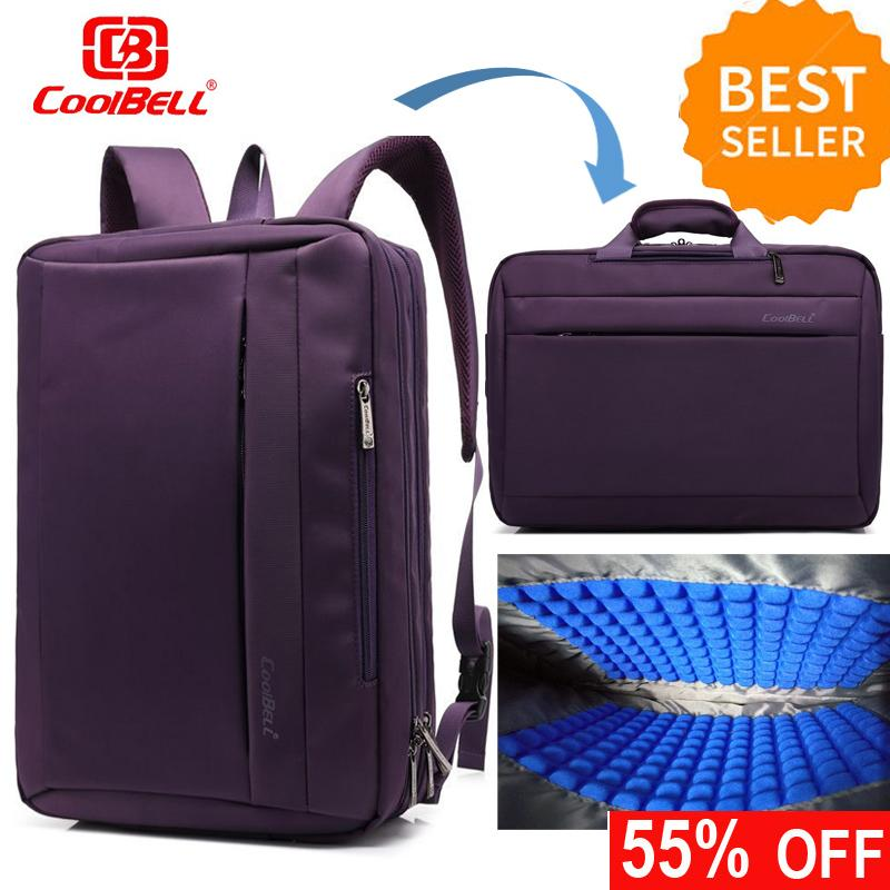 8e640561e6a6 CoolBELL 15.6 17.3 inch Multi-function Convertible Laptop Messenger  Computer Bag Single-shoulder