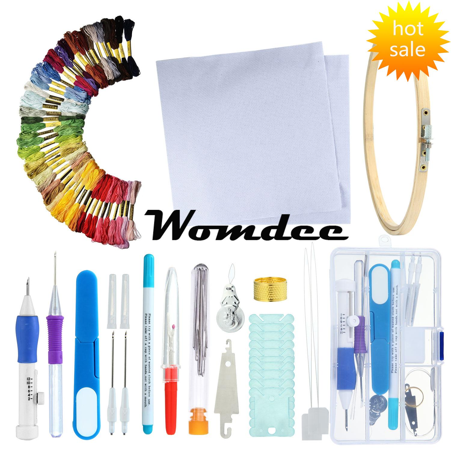 Womdee Magic Embroidery Pen Embroidery Stitching Punch Needles Pen Set Craft Tool For Diy Threaders Sewing Knitting Kit - Intl By Womdee.