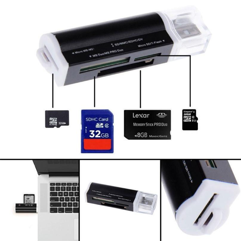 Metal Alloy Multi All In One Micro Usb 2.0 Memory 4 In 1 Card Reader Adapter For Micro Tf M2 Mmc Ms Pro Duo Sd Card Reader By Viral Gears Ph.