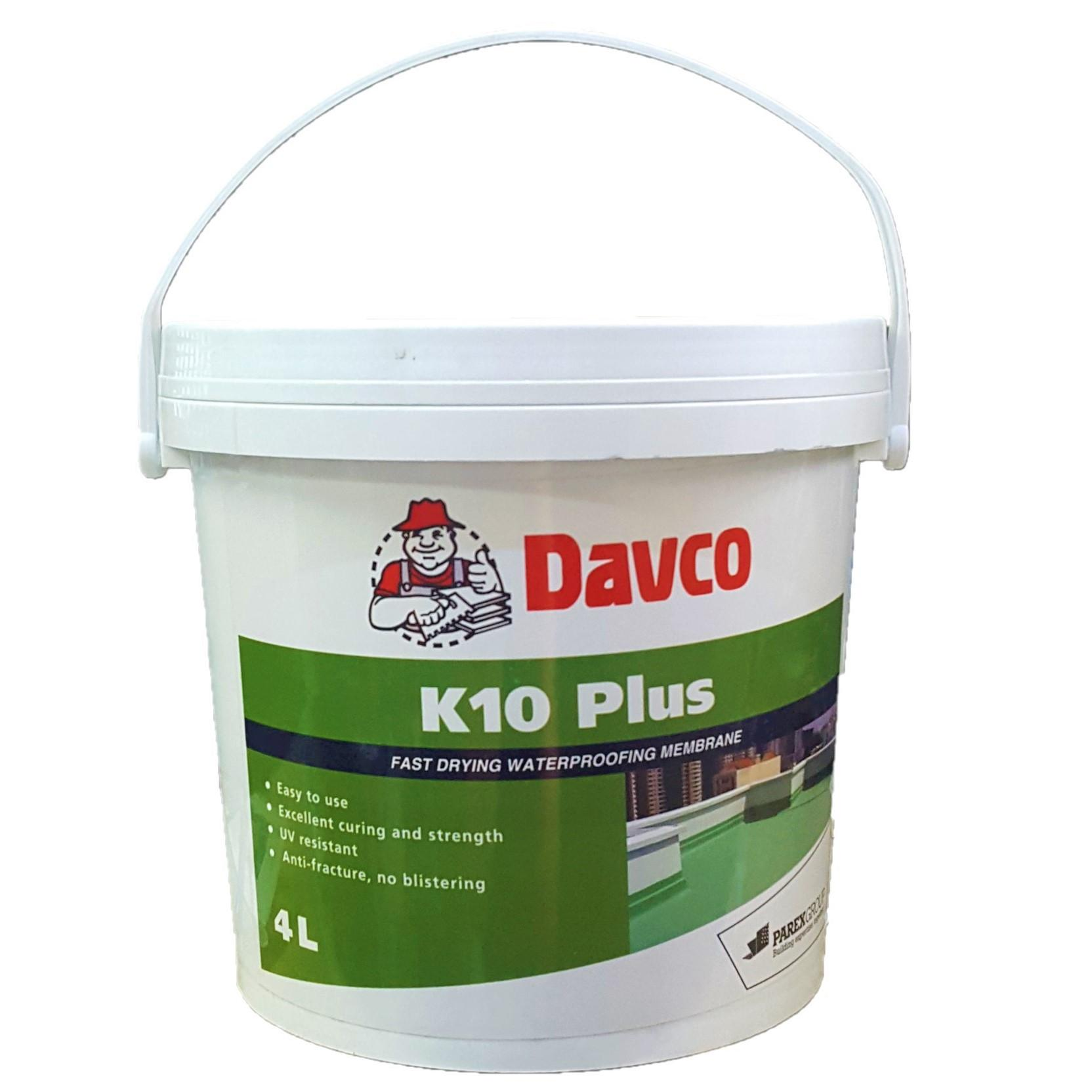 DAVCO K10 Plus Fast Drying Waterproofing Membrane for Roof Deck and