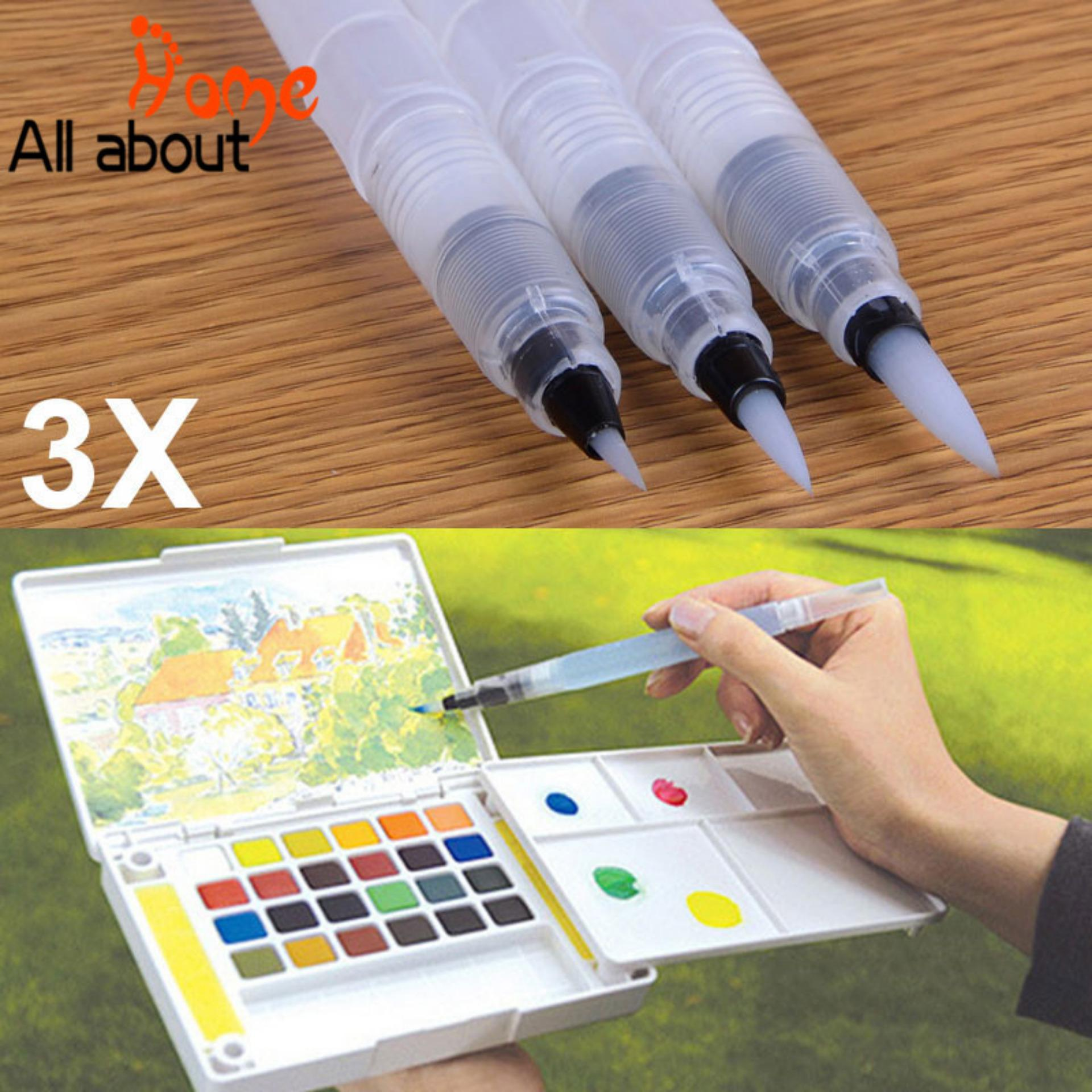 3 Pcs Refillable Ink Color Pen Water Brush Pen Office Stationery Refillable Ink Color Pen Water Brush Pen Office Stationery Size:l By All About Home.