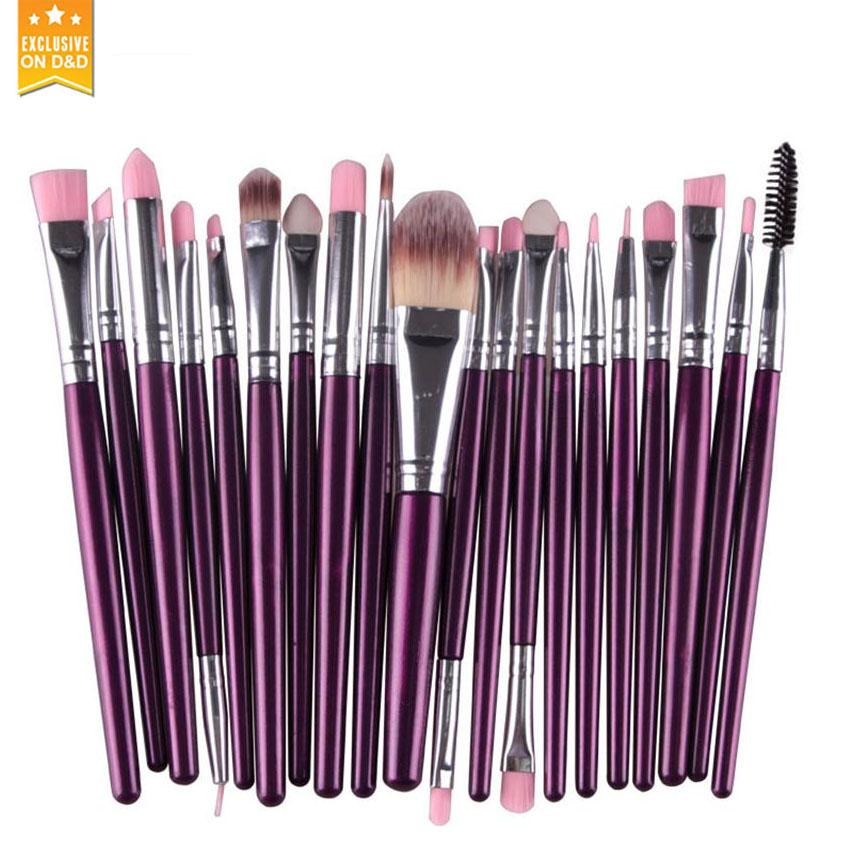 D&D 20Pcs Makeup Brushes Set (Violet) Philippines