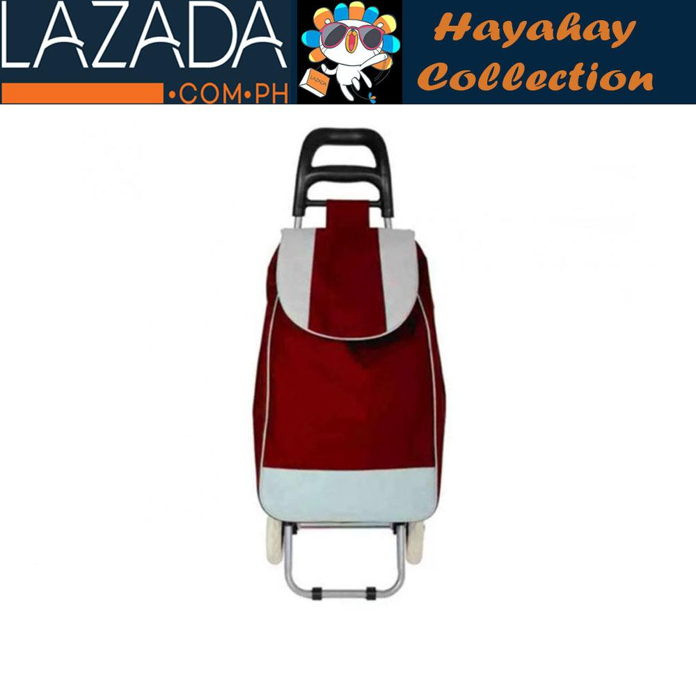 Fashion Folding Wheeled Shopping Trolley Bag (red) By Hayahay.