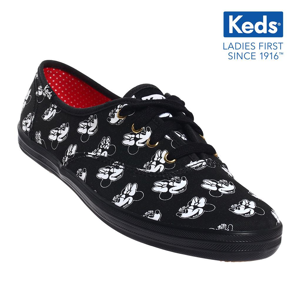 9dfc5cc004c0a Keds Champion Minnie Canvas Lace-up Sneakers (Black) WF55267