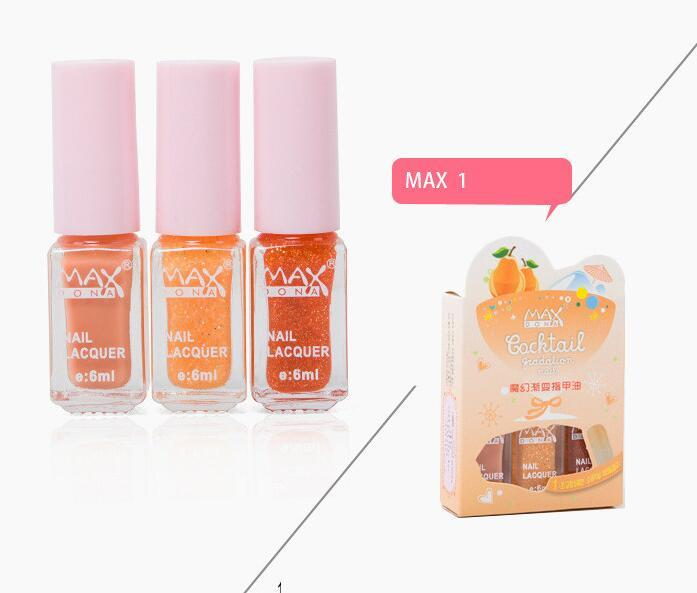 Maxdona 3PCS/SET Nail Polish 3 Color Gradient Cocktail Magic Nail Gel 6ml Philippines