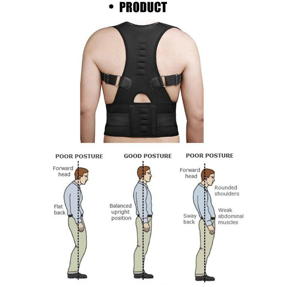8c84c6bc8a Adjustable Magnetic Therapy Posture Corrector Brace Shoulder Back Support  Belt for Male Female Braces and Supports
