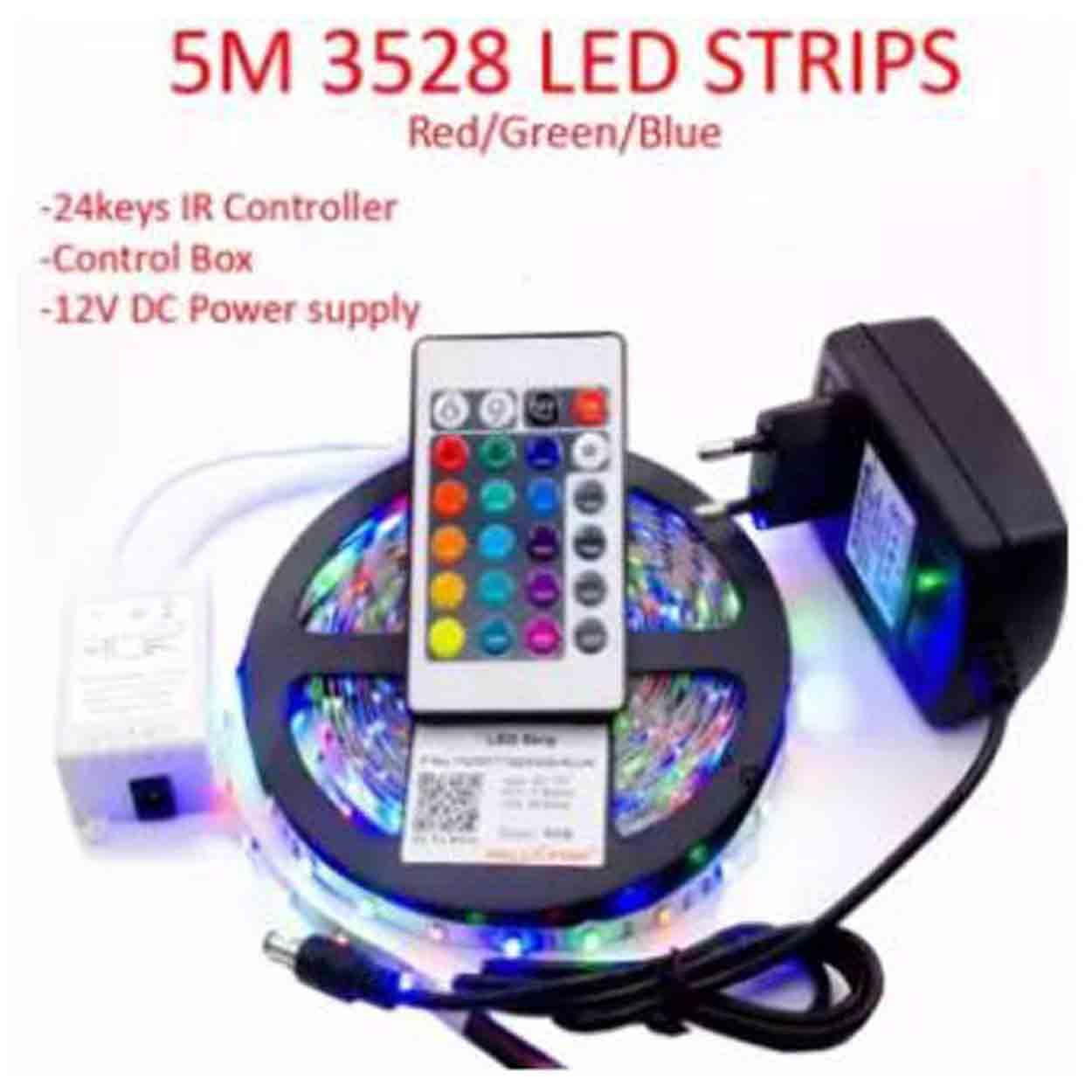 Led Lighting For Sale Lamps Prices Brands Review In Circuit 1w X 3 3w X1 Dc Driver Http 5m 3528 Strip Light Rgb 24keys Remote Control With 12v 2a Power Adapter