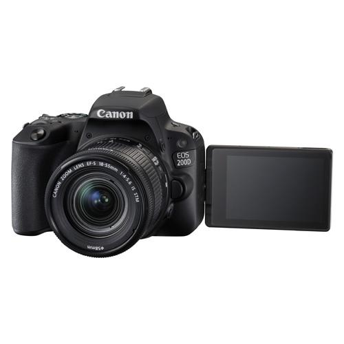 Canon Eos 200d + 18-55mm F4-5.6 Is Stm > 1 Year Warranty < (black) By Best Zone D.