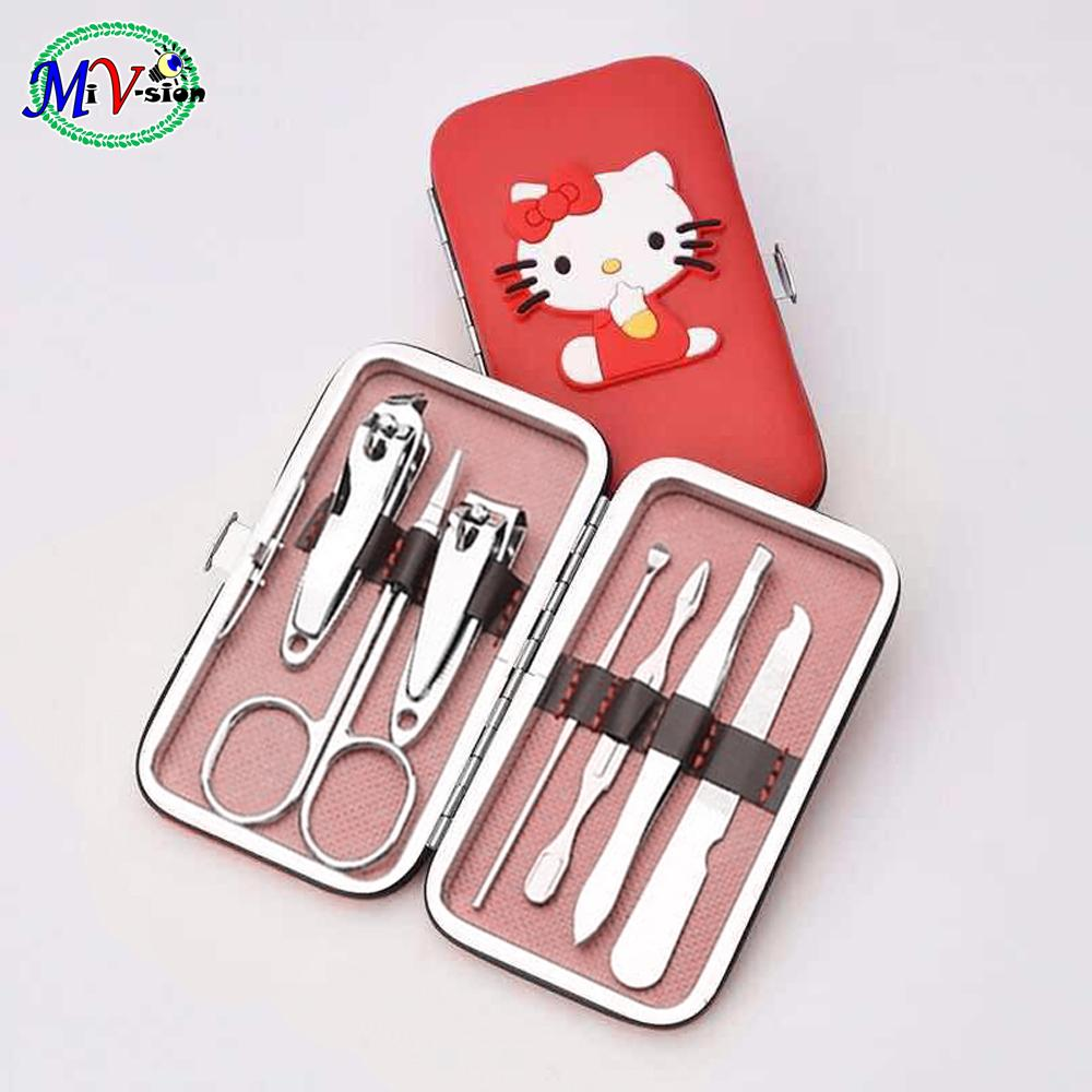 Nail Clipper Nipper Cutter Pedicure Manicure Tools Set Red Philippines