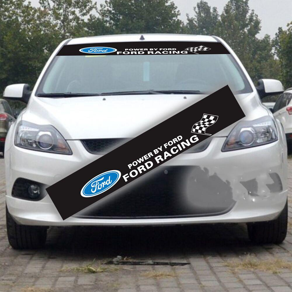 1pcs customized car styling stickers for ford front windshield decals motorsports