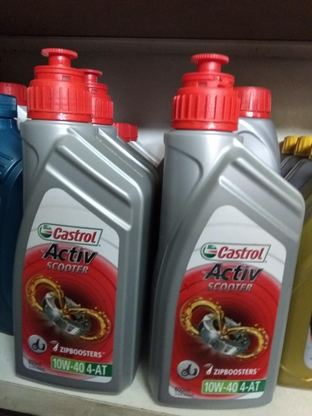 Motorbike Engine Oil Castrol Activ Matic 20w 40 12x08l I 08 Liter Power1 Scooter 4t 10w 4 At With Zipboosters 800ml