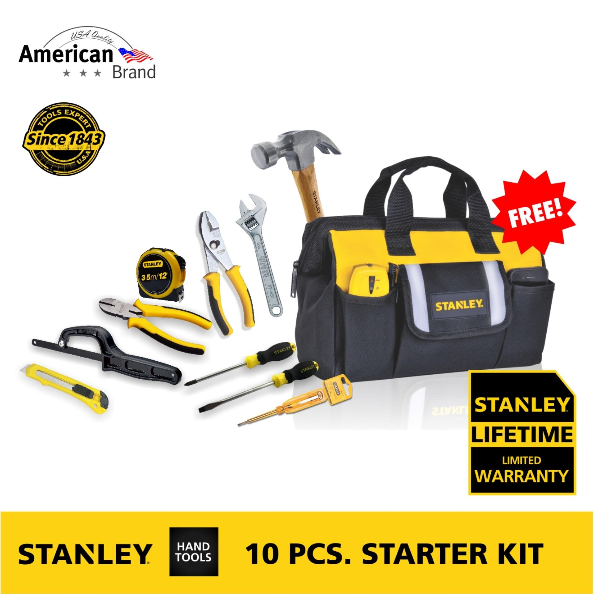 Stanley Philippines Price List Jigsaw Hammer Tape Basic 5m 16 10 Piece Starter Hand Tool Kit Black Yellow Brand New