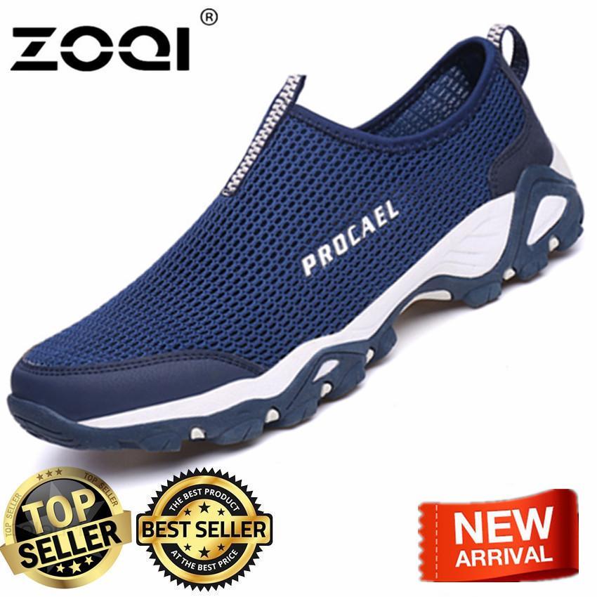 ZOQI Men's Fashion Sports Shoes Outdoor Hiking Shoes(Blue) - intl