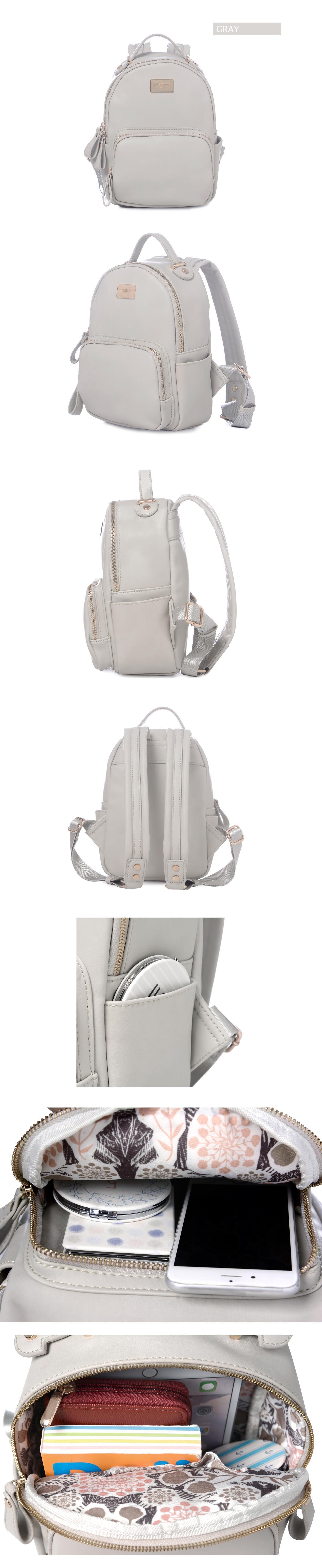 Specifications of DAVIDJONES women backpack pu leather female shoulder bag large lady plain back bag girl casual book bag original student designer pouch ...