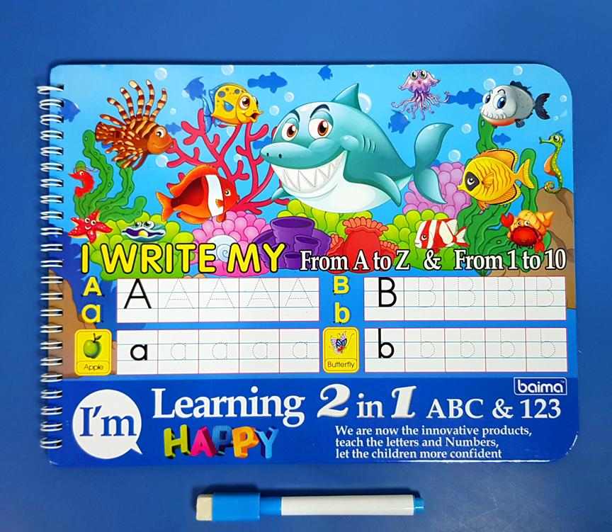Write And Erase Alphabet And Numbers Activity Writing Book For Toddlers Kids Children (sea Animals) By Christine Gutierrez-Eliseo.