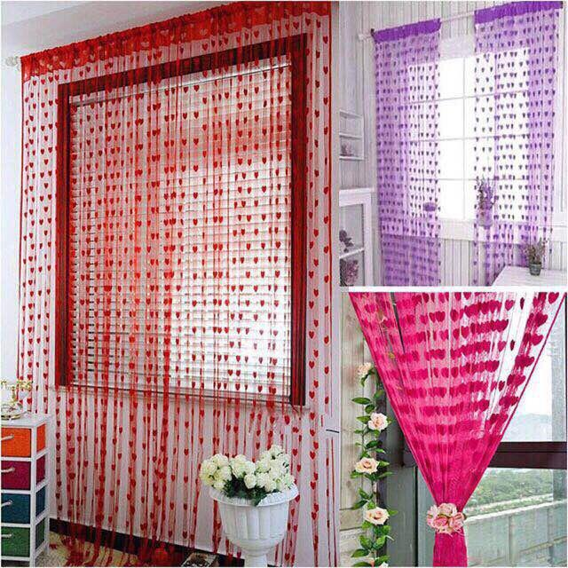 ✅heart Style Line String Door Curtain Assel Window Curtain-Edison Online Shop By Edison Online Shop.