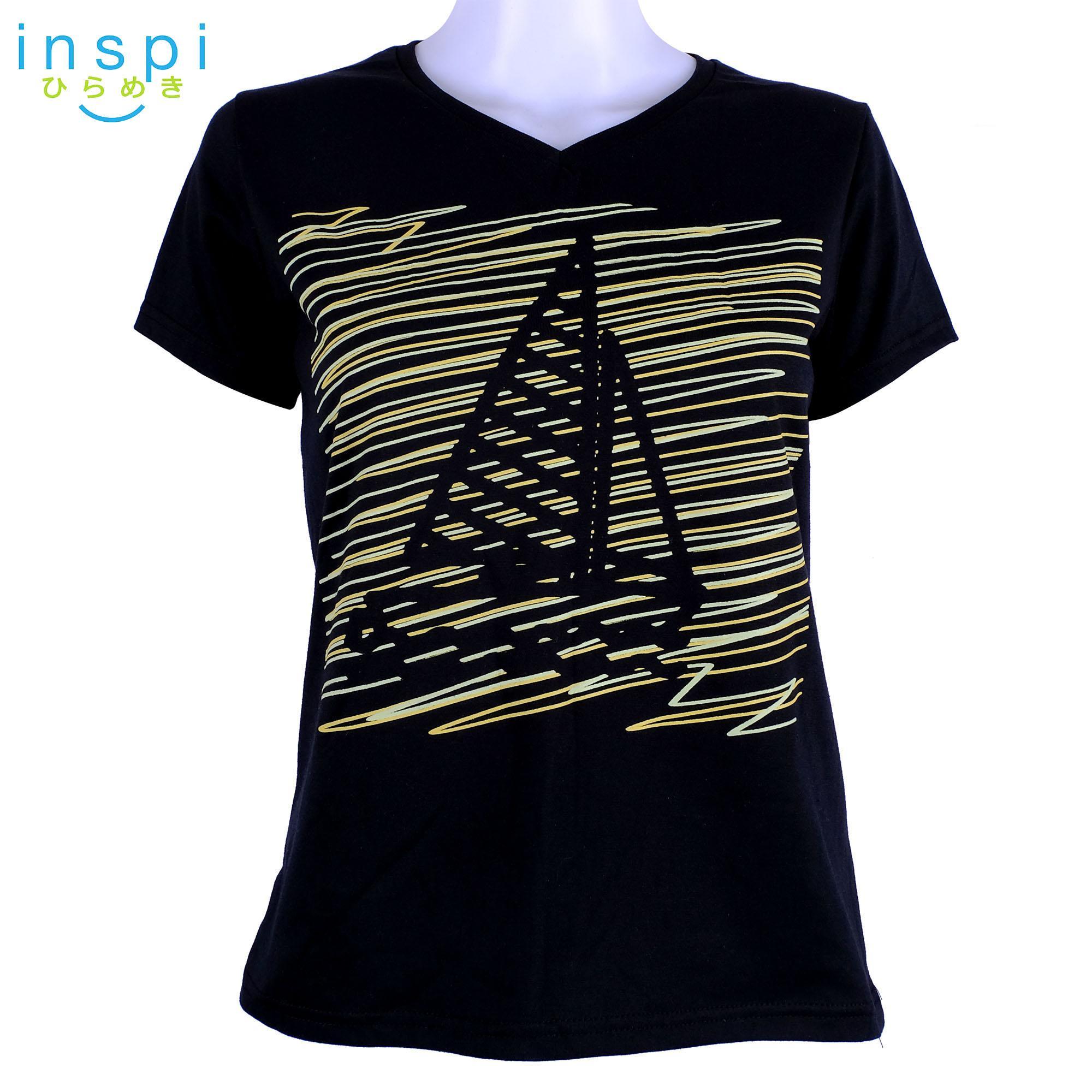 8690bf53ed270 INSPI Tees Ladies Semi Fit Doodle Boat (Black) tshirt printed graphic tee t  shirt