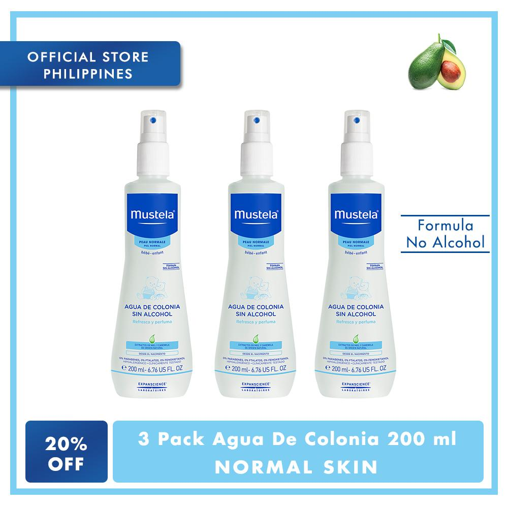 Mustela 3 Pack Agua De Colonia 200ml By Mustela Philippines.