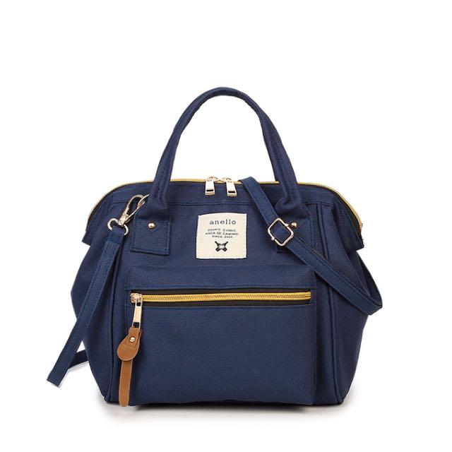 d048bddf3194 3 Way Shoulder Bag Sling Cross Body Bag Handbag School Bag Travel Bag (Dark  Blue