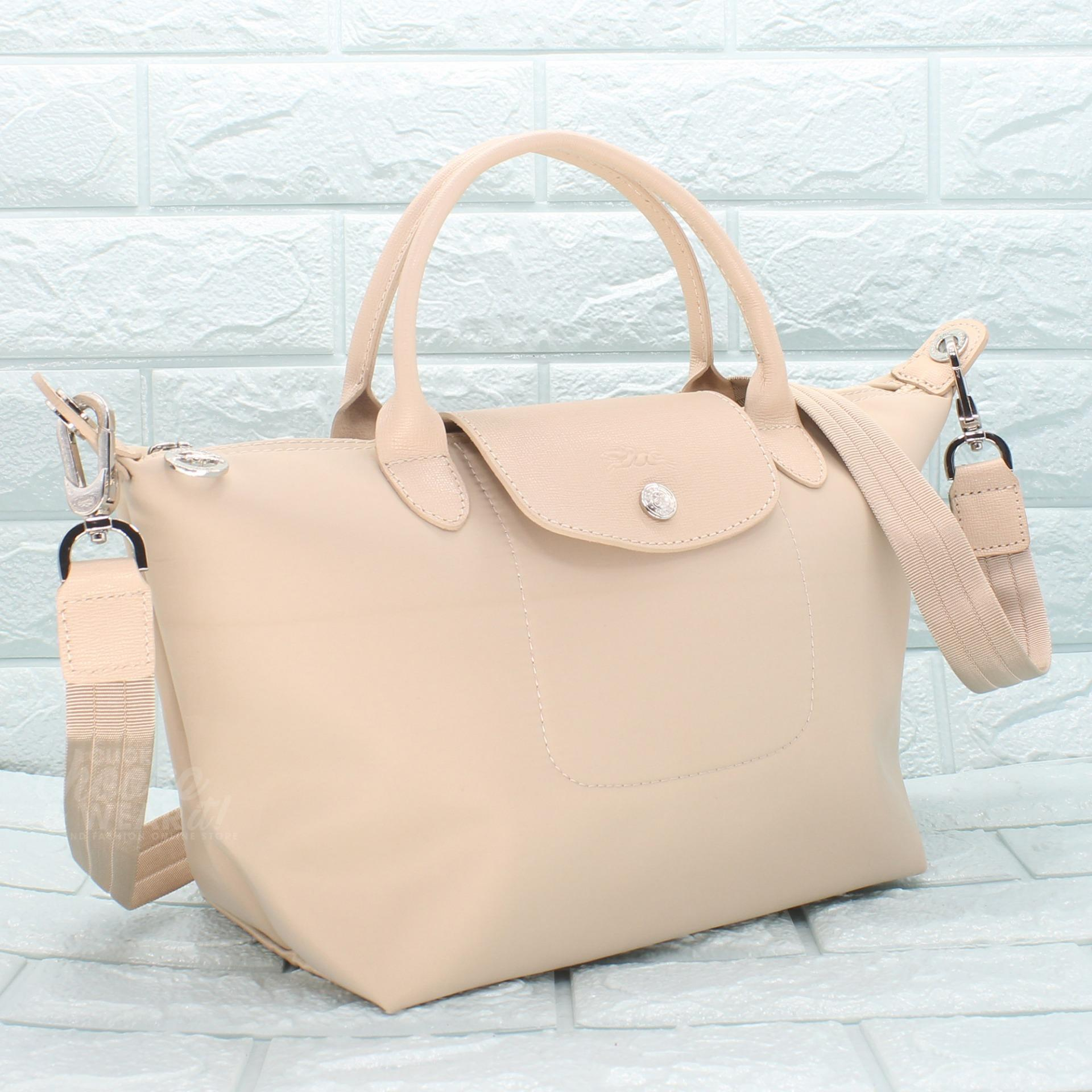 Buy Sell Cheapest Longchamp Neo Small Best Quality Product Deals Black Authentic Made In France Le Pliage Top Handle Tote Rice White