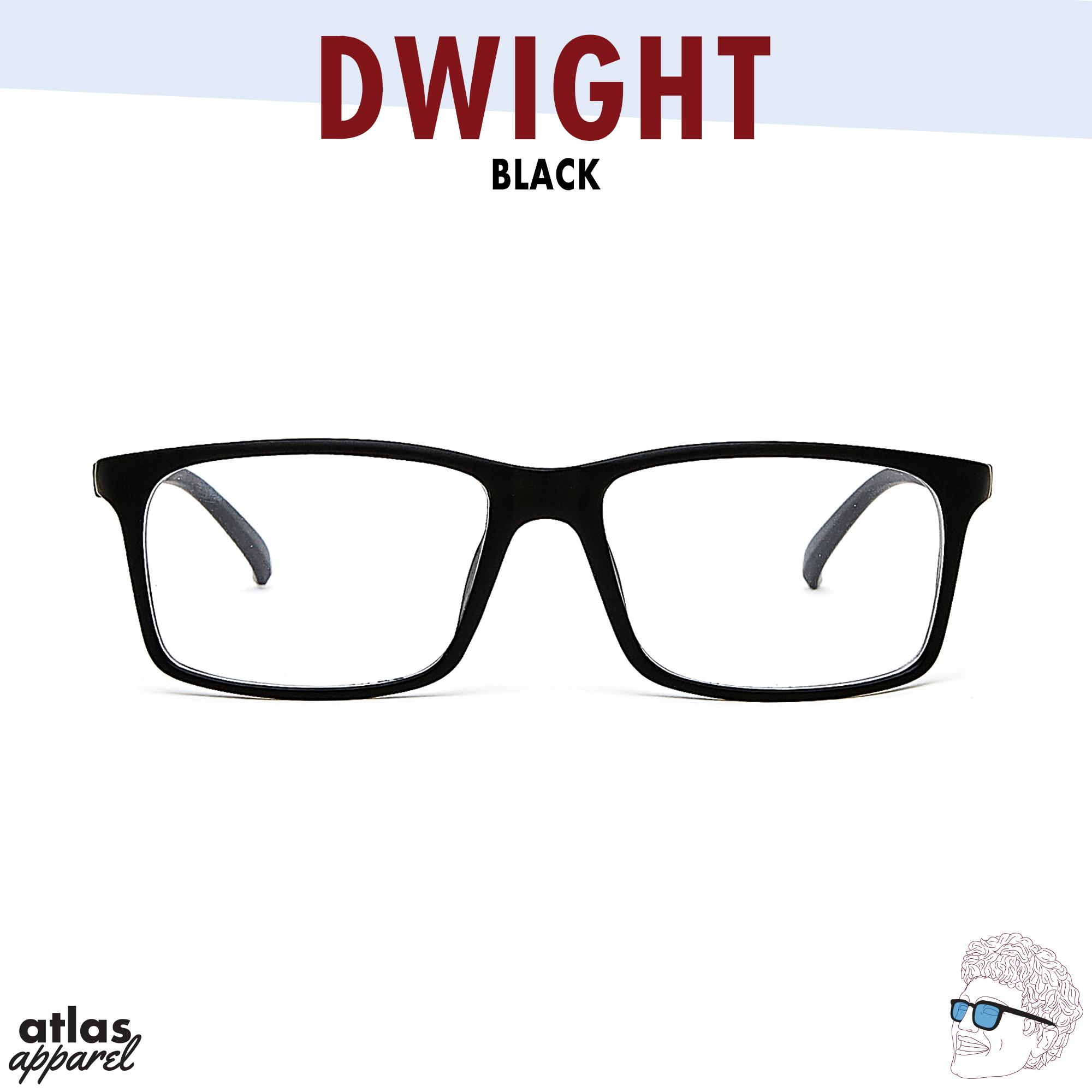a26d1dc663 Dwight (Black) Size 52 Spring Hinge Rectangle Eyeglasses for Men and Women  by Atlas
