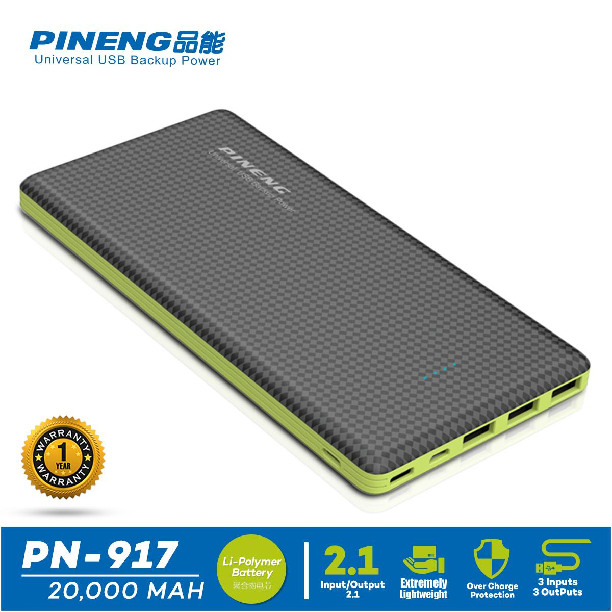 Buy Phone Tablet Batteries Chargers In Philippines Lazada Charger Mobil Car Saver Usb For Smartphone Pineng Pn 917 20000mah With Over Charge Protection Circuit 3 Outputs Powerbank
