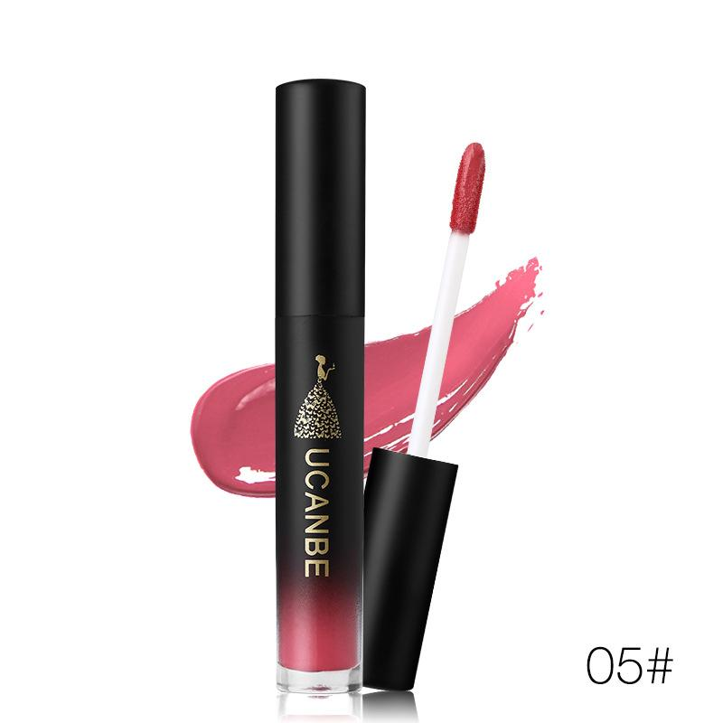 UCANBE Rro Rouge Liquid Lipstick Velvet Matte Lip Gloss Shimmer Metal Waterproof Long-wear High Pigment Nude Rose Red Lip Tint Philippines