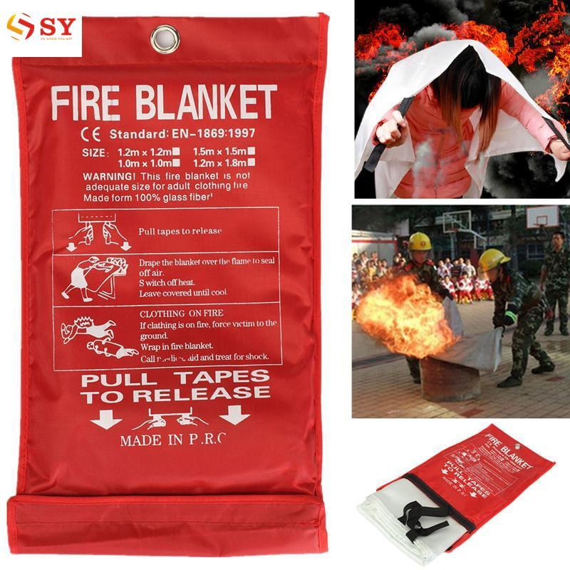 So Young 1m Sealed Fire Blanket Kitchen Work Place Safety Quick Release Protection Fire Extinguishers Tent