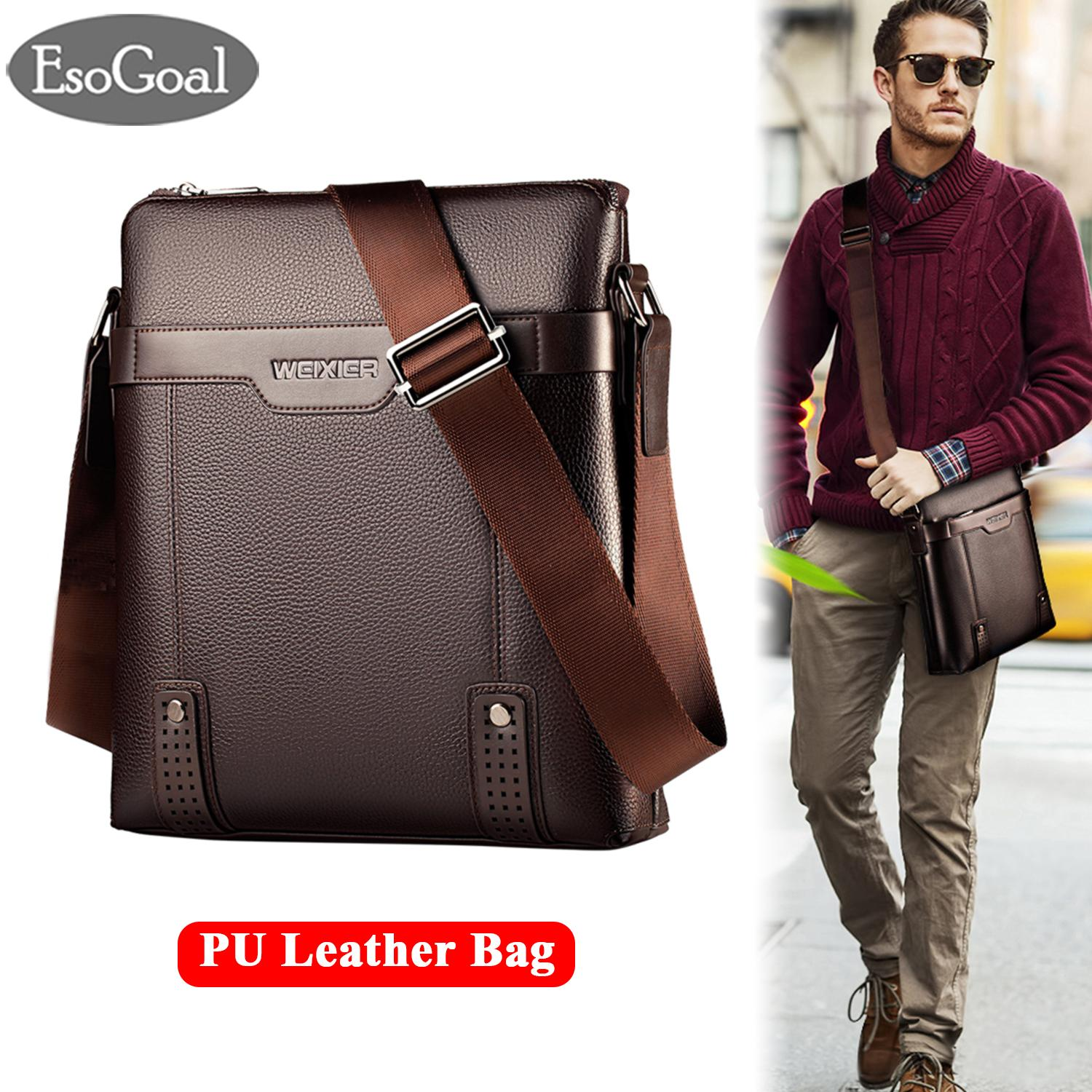 f58df20302 EsoGoal Men Messenger Bag PU Leather Sling Shoulder Crossbody Men Bag  Handbag Men Casual Business Fashion