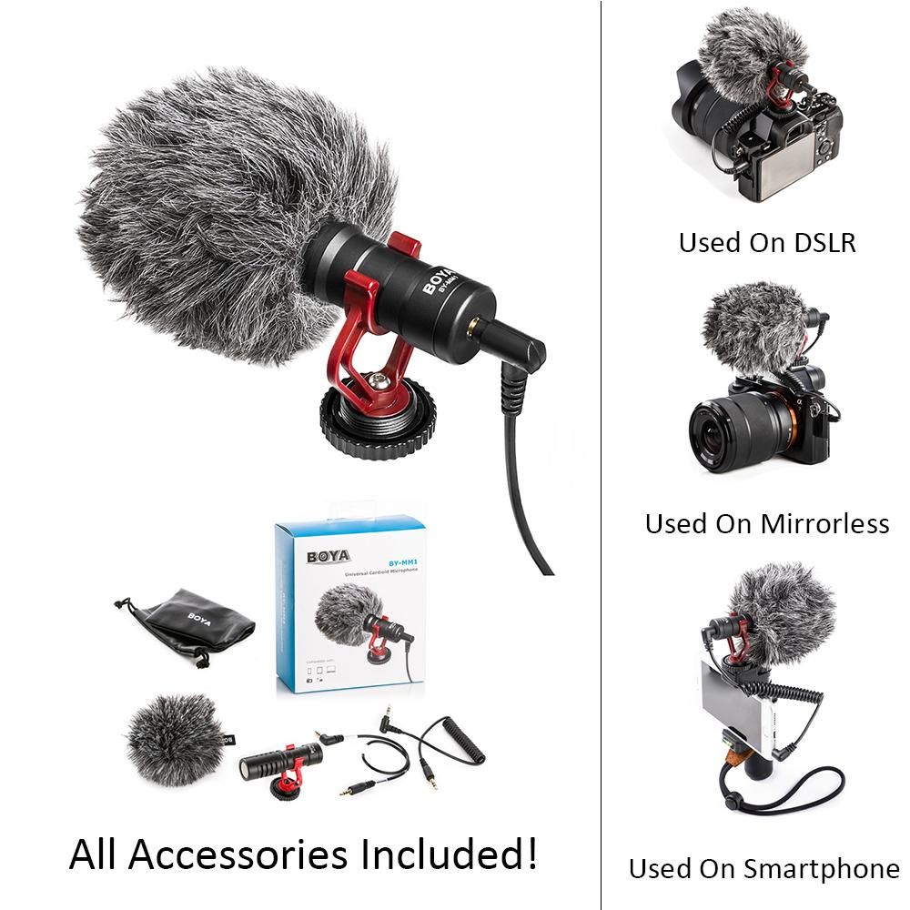 Boya Philippines Price List Stereo Video Microphone For Sale Electret Condenser Wiring Youtube By Mm1 Dslr Mic Camera Blogging Recording