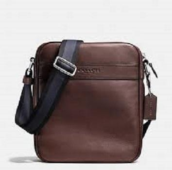 8ba1aaad6b85 Coach Sling Bag - F54782 Charles Flight Bag In Smooth Leather - Brown