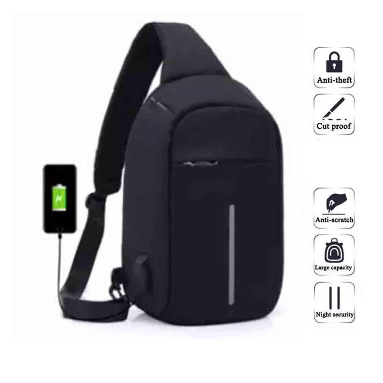 398a6f2f54 Anti Theft Bag Anti Theft Sling Bag Cross Body Bag With USB Charger Travel  Bag Messenger Bag Men Women Shoulder Bag Water Repellant Bag Casual Bag ...