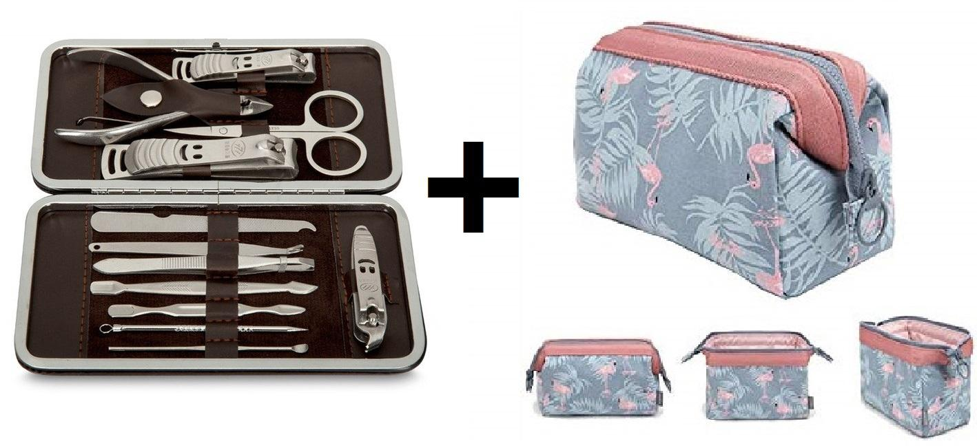 LILIs - 1 x 12in1 Manicure and Pedicure Set and COSMETIC POUCH/MAKE-UP BAG/TOILETRY BAG Philippines