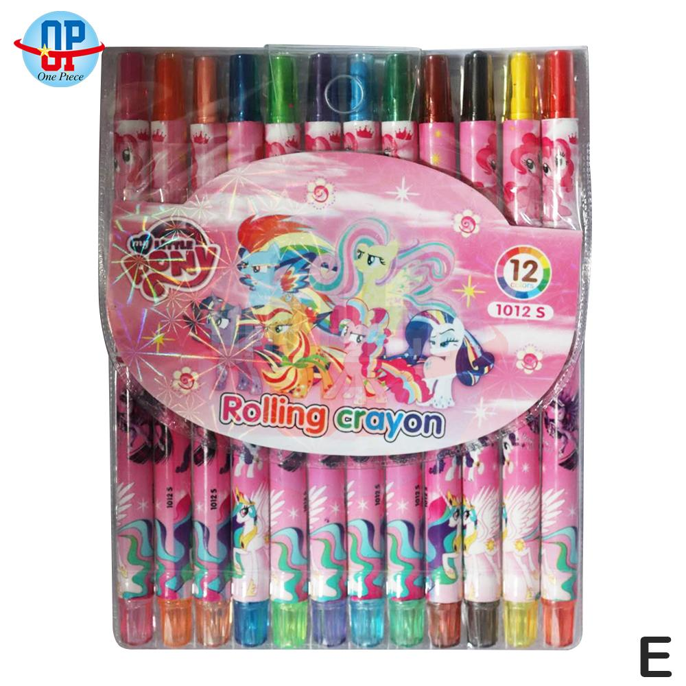 Onepiece 12 Colors Rolling Twist Up School Supplies Crayons (16cm) By One Piece.