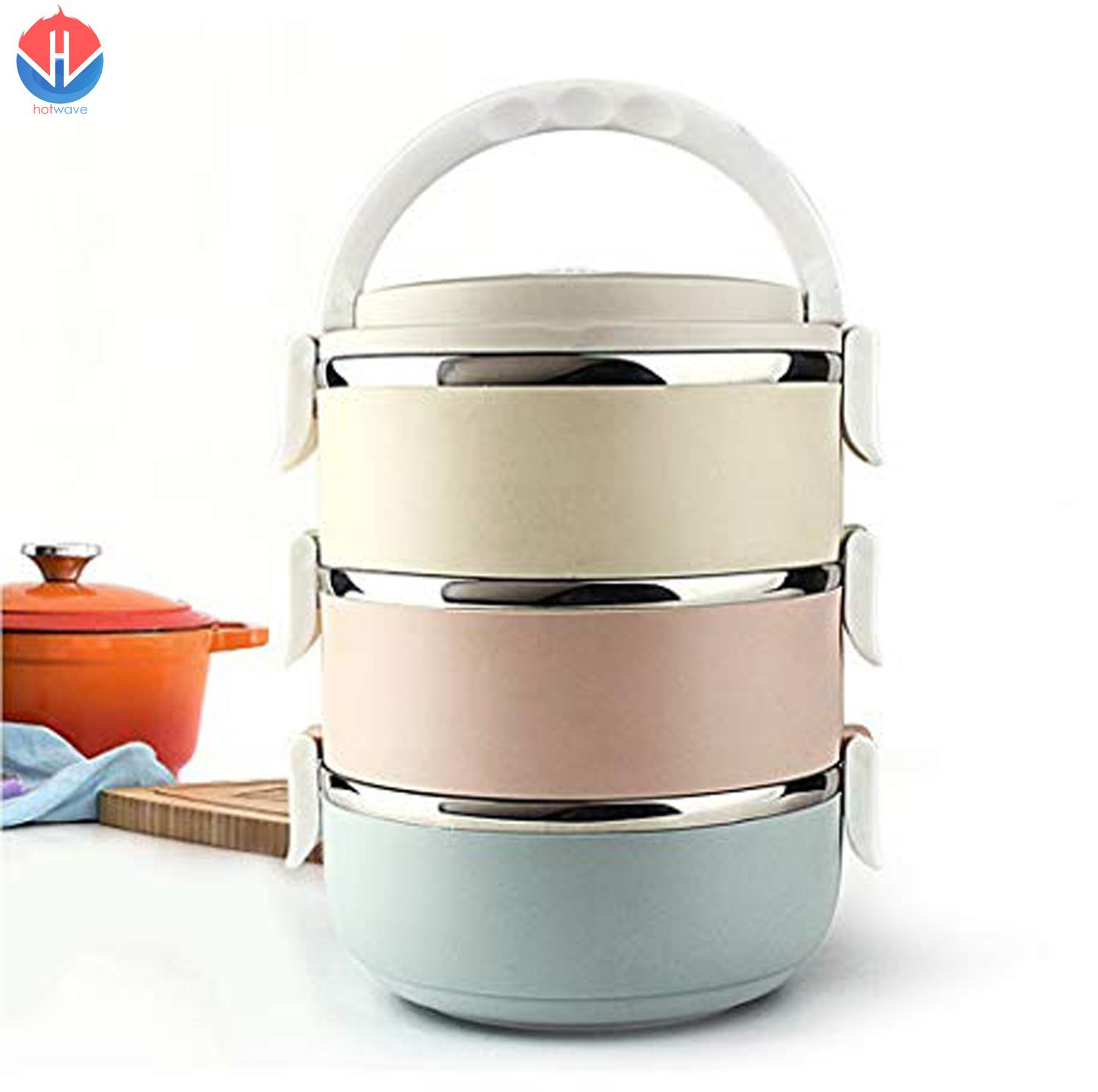 2100ml High Quality Insulated 3 Layer Stainless Steel Lunch Box