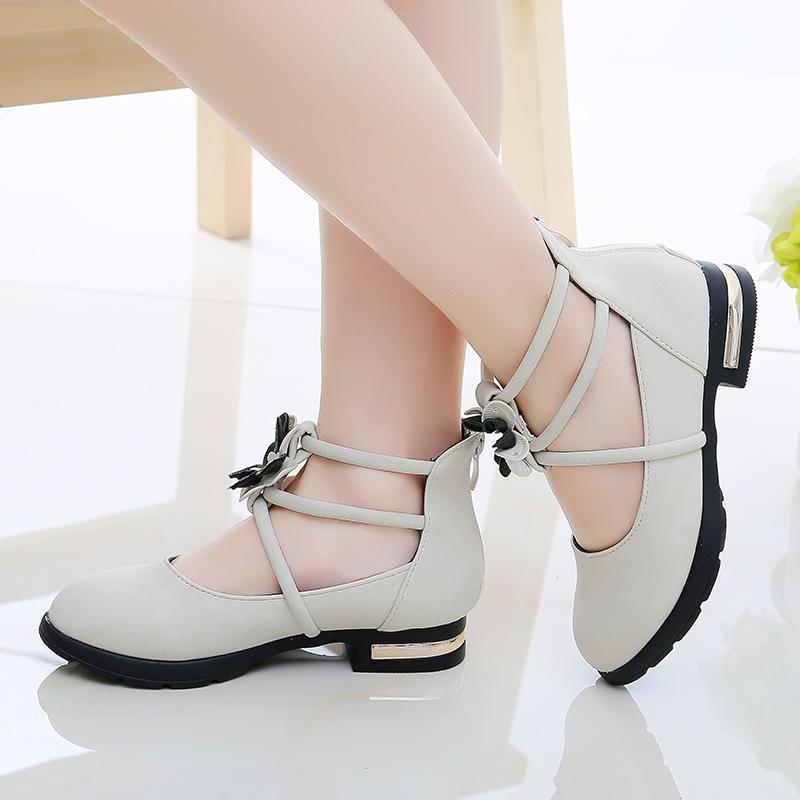 Girls  Leather Shoes Little Princess Shoes Spring And Autumn 2019 New Style  Korean Style Students a8bb6d4ed8