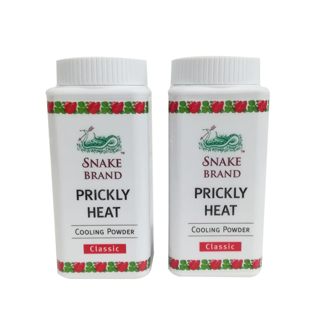 Snake Brand Prickly Heat Cooling Powder Set of 2 Philippines